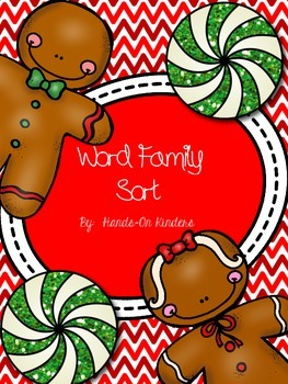 Gingerbread Word Family Center