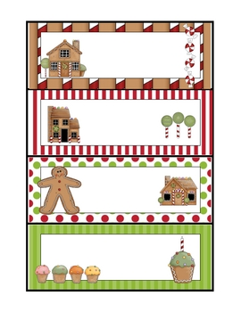Gingerbread Word Family Sorting Cards