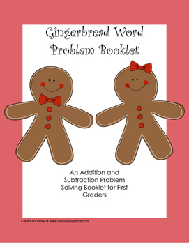 Gingerbread Word Problem Booklet for First Grade