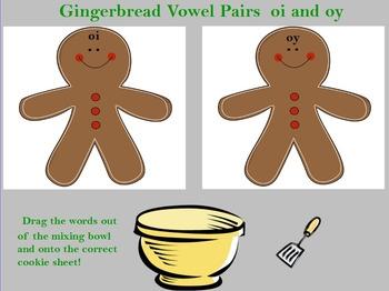 Gingerbread Word Sort oi oy vowel teams