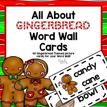Gingerbread Word Wall Cards