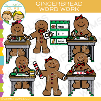 Word Work Gingerbread Clip Art