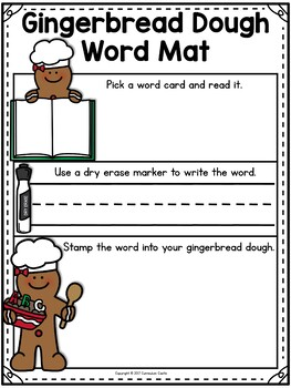 Gingerbread Center: Word Work Activity FREEBIE!