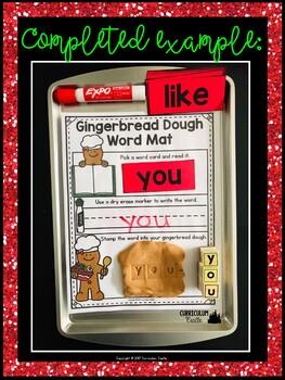 Gingerbread Center: Word Work Activity FREEBIE!