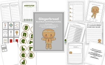 Gingerbread Word Work and Writing Activities