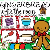 Gingerbread Write the Room - 16 cards four versions, four recording sheets