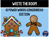 Gingerbread Write the Room 1G-IRLA