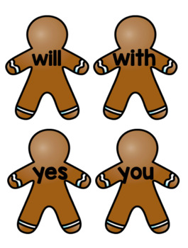 Gingerbread Write the Room 1G-IRLA