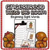 Sight Words Pre-Primer Primer Gingerbread Theme