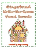 Gingerbread Write-the-Room CVC Median Vowel Sounds