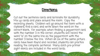 Gingerbread Write-the-Room Sentences