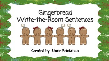Gingerbread Write-the-Room Sentences