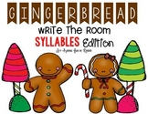 Gingerbread Write the Room - Syllables Edition