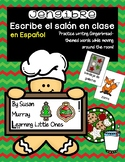 Gingerbread Write the Room in Spanish