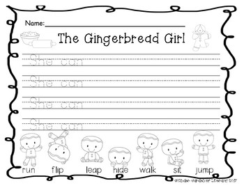Writing Gingerbread-Sentence Starters