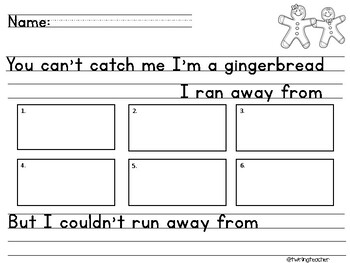 Gingerbread Writing Activity