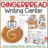 Gingerbread Writing Center for PreK, Kindergarten and First Grade