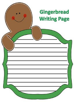 Gingerbread Writing Page