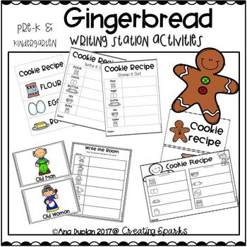 Gingerbread Writing Station