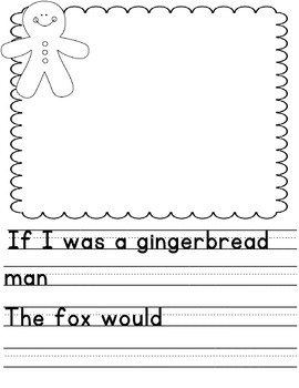 Gingerbread Writing Templates