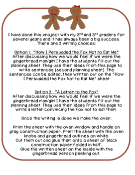 Gingerbread Writing and Craftivity