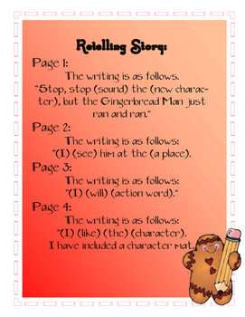Gingerbread Writing for Kindergarten