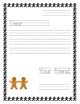 Gingerbread Writing_ Letter template