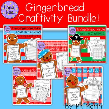 Gingerbread Wrtiting Craftivities Bundle