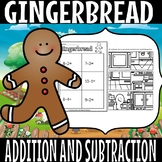 gingerbread addition and subtraction sort (50% off for 48 hours)