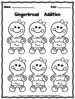 Gingerbread addition center