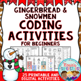 Gingerbread and Snowmen Unplugged Coding for Beginners Great for Hour of Code™