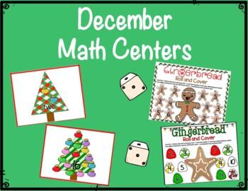 Literacy & Math Centers: December Gingerbread & Trees