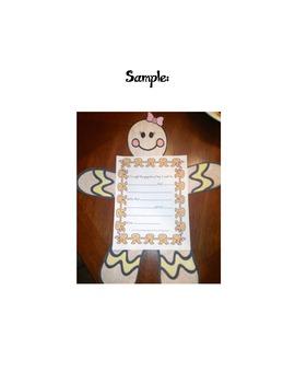 Gingerbread boy craftivity and writing