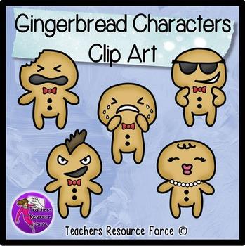 Gingerbread men clip art