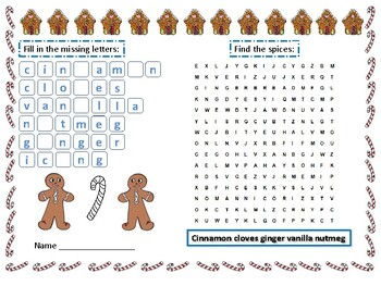 Gingerbread cookies reading activity for 2nd grade students