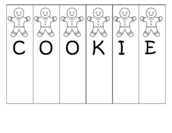 Gingerbread counting practice (several versions included)