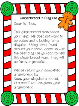 Gingerbread in Disguise Winter Writing Activity