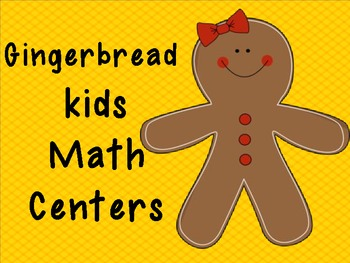 Gingerbread kids Math Numbers Centers