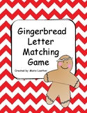 Gingerbread letter matching game