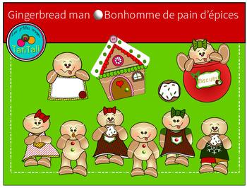 Gingerbread man - Clip Art-  Bonhomme de pain d'épices