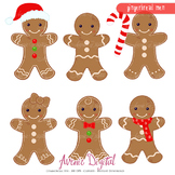 Gingerbread man Clipart Scrapbook printables clip art cookies vector graphics