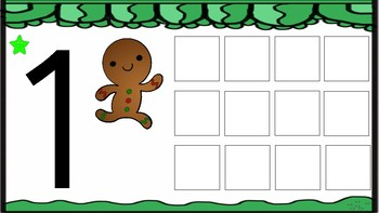 Gingerbread man Counting play dough mats