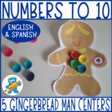 Gingerbread man math activity. Counting to 10 Game. Christmas resource