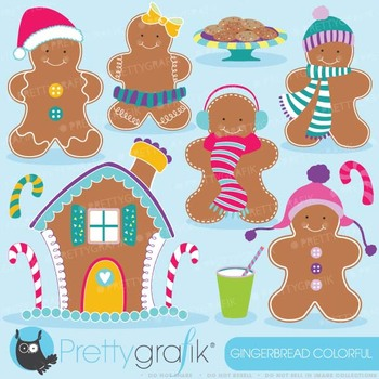 Gingerbread man clipart commercial use, vector graphics - CL597