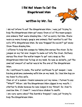 gingerbread man story pdf