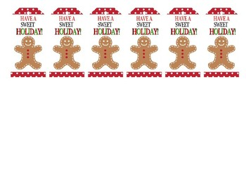 Gingerbread man gift tags and Made by Me stickers
