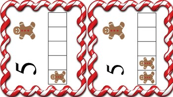 Gingerbread man tens and fives frame