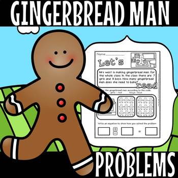 Gingerbread men Word Problems.