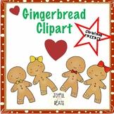 Gingerbread men & women clipart FREEBIE!