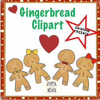 Gingerbread men & women clipart FREEBIE!